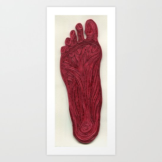 paper filigree Muscle Structure of the foot Art Print