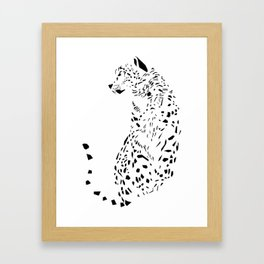The Ghost of Mountains - Animal - Nature - Beast Big Cat Leopard Framed Art Print