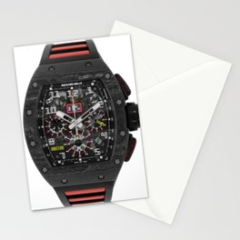 Richard Mille RM011 Felipe Massa Carbon Black Automatic Flyback Chronograph 49MM Watch Stationery Cards