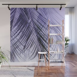Palm Leaves On A Violet Background #decor #society6 #buyart Wall Mural