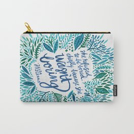 Zelda Fitzgerald – Blue on White Carry-All Pouch