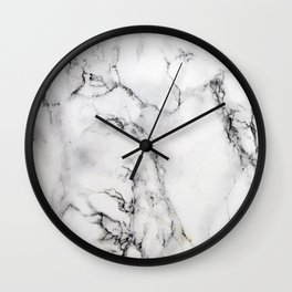 Modern Gloss Marble Polished Surface Wall Clock