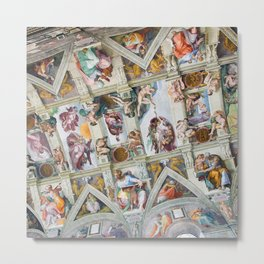 The ceiling of the Sistine Chapel Metal Print