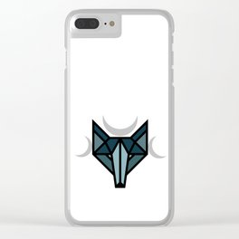 By the moon Clear iPhone Case