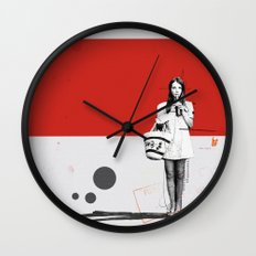 June | Collage Wall Clock