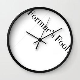 Fortune's Fool Wall Clock