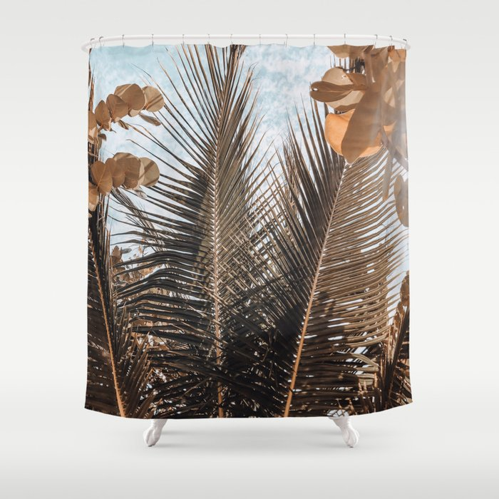 Palm leaves in Tulum Shower Curtain