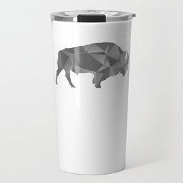 Raging Buffaloes Geometric Silver I Love Buffalo Travel Mug
