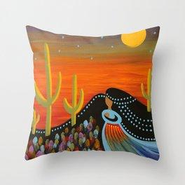 Desert Mother Throw Pillow