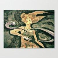 the legend of korra Canvas Prints featuring Korra by NastyaWait