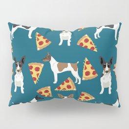 Rat Terrier pizza dog breed pet portrait dog pattern dog breeds gifts for dog lovers Pillow Sham