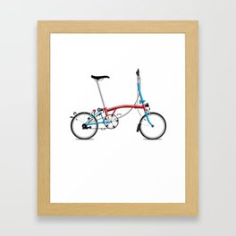 Folding London Brompton Bicycle Framed Art Print