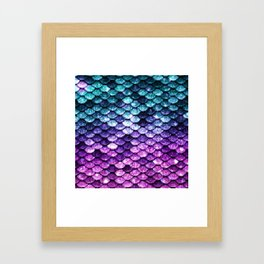 Mermaid Tail Dark Unicorn Framed Art Print