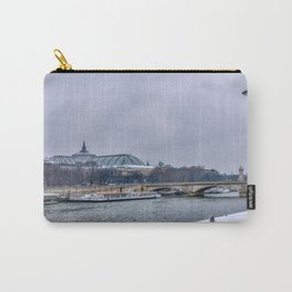 Snowfall over Paris Carry-All Pouch