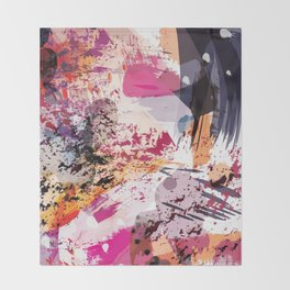 7: a vibrant abstract in jewel tones Throw Blanket