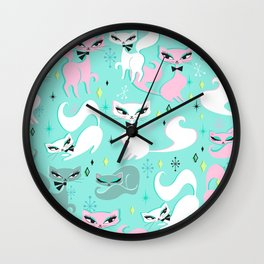 Swanky Kittens Wall Clock
