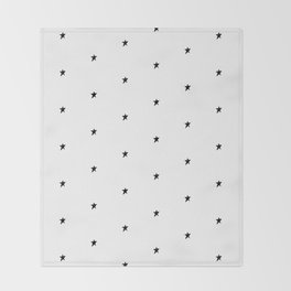 Black and white stars Throw Blanket