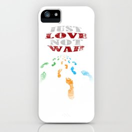 just love not war iPhone Case