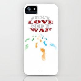 just love not war iPhone Case