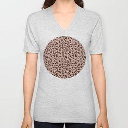 Leopard Animal Print Pattern Unisex V-Neck