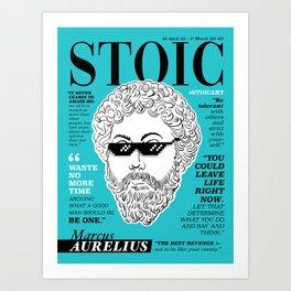 Stoic. Marcus Aurelius Art Print