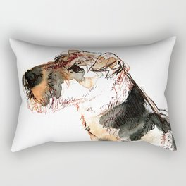 Airedale Terrier Watercolor #2 Rectangular Pillow