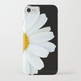 Hello Daisy - White Flower Black Background #decor #society6 #buyart iPhone Case