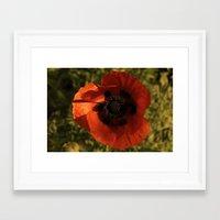 woodstock Framed Art Prints featuring woodstock flowers by Teresa Gabry