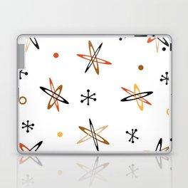 Atomic Era Space Age Orange Brown White Laptop & iPad Skin