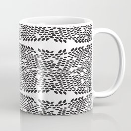 Snake skin scales texture. Seamless pattern black on white background. simple ornament Coffee Mug