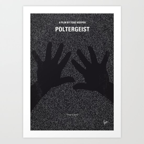 No266 My POLTERGEIST minimal movie poster Art Print
