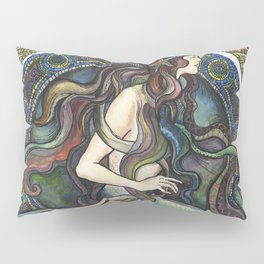 """Under the Sea - A Mermaid"", by Fanitsa Petrou Pillow Sham"