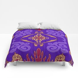 Flying Carpet Aladdin Purple Magic Carpet Comforters
