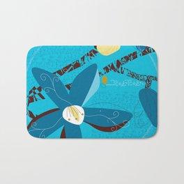 Blue Saucer Magnolia Bath Mat
