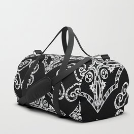 Victorian Gothic Holiday Wallpaper Duffle Bag