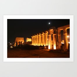 The night and the moon at Temple of Luxor, no. 29 Art Print