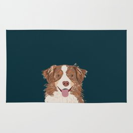 Hollis - Australian Shepherd gifts for dog owners pet lovers dog people gifts for dog person Rug