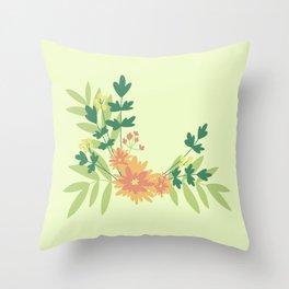 Citrus Floral Throw Pillow
