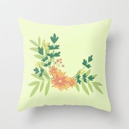 Citrus Floral Throw Pillow