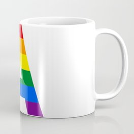 Rainbow letters A LGBT GAY PRIDE SEASON TYPOGRAPHY LGBTQIA Coffee Mug