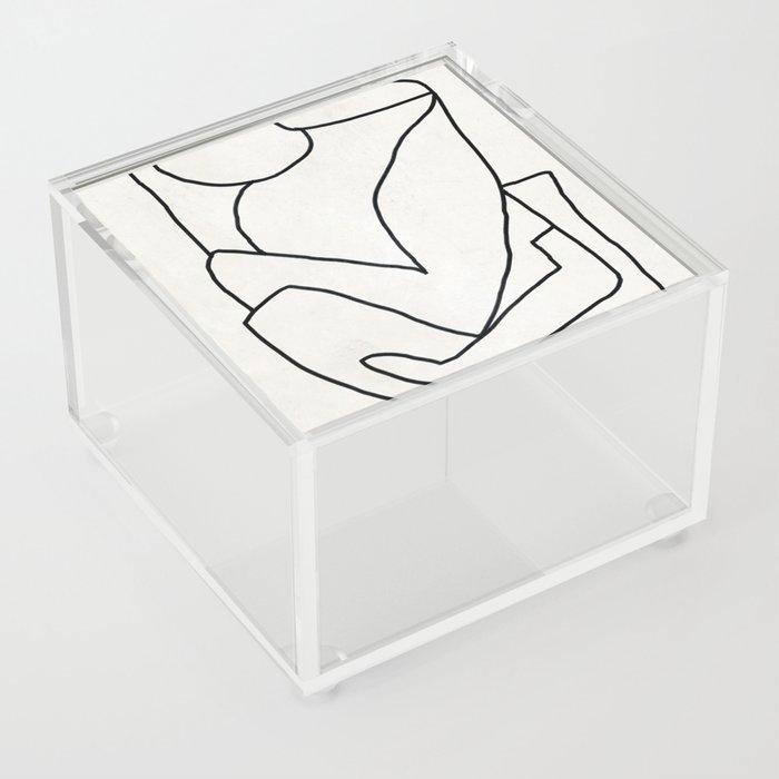 Abstract line art 2 Acrylic Box