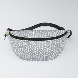 Hand Knit Light Grey Fanny Pack