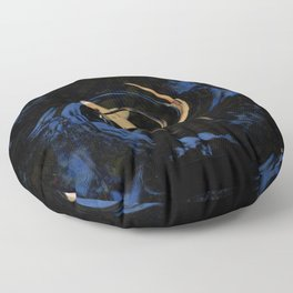 Swirling Fish Pattern Floor Pillow