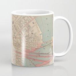 Vintage Map of Boston MA (1882) Coffee Mug