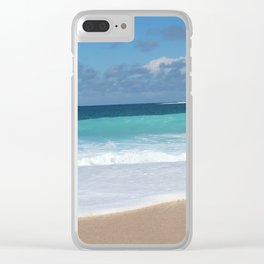 Ocean Blues Clear iPhone Case