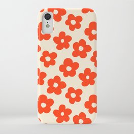 Retro 60s 70s Flower Pattern #pattern #vintage #poppy iPhone Case