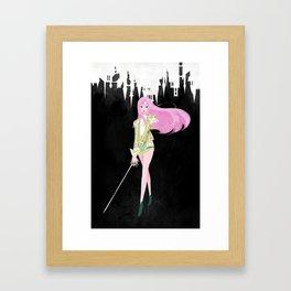 Utena in Balmain Framed Art Print