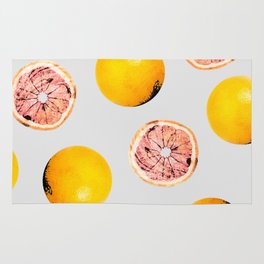 Grapefruit Pattern #society6 #decor #buyart Rug