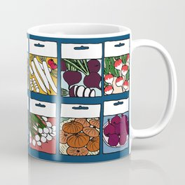 Veggie Seeds Pattern Coffee Mug