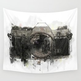 retro camera illustration / painting /drawing  2 Wall Tapestry